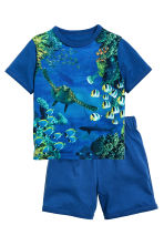 Jersey pyjamas - Bright blue - Kids | H&M CN 1